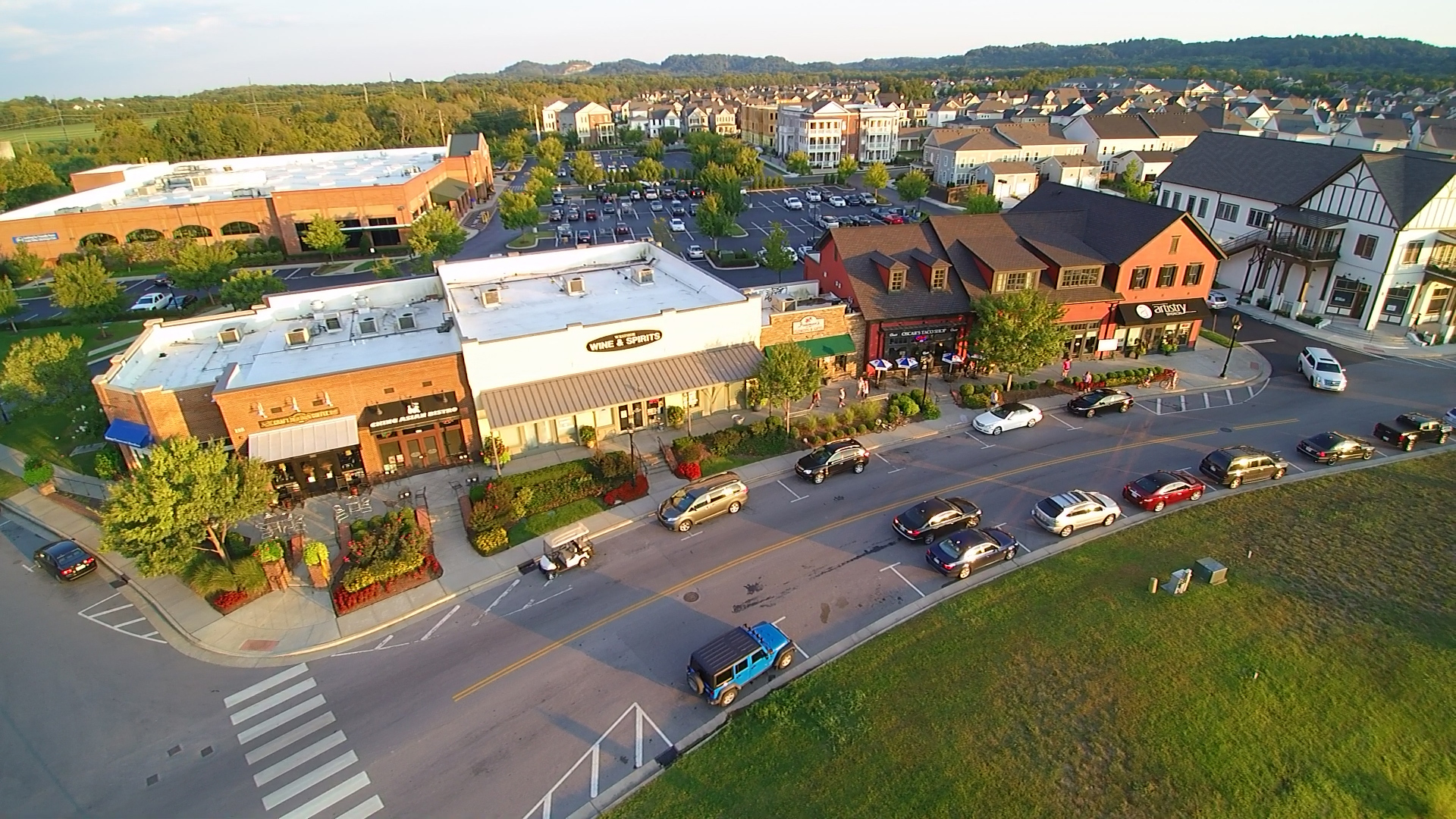 Westhaven Town Center in Franklin, TN Drone Services by FranklinAerial.com